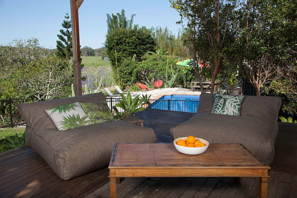 Relax up on the cabana - great views and breeze