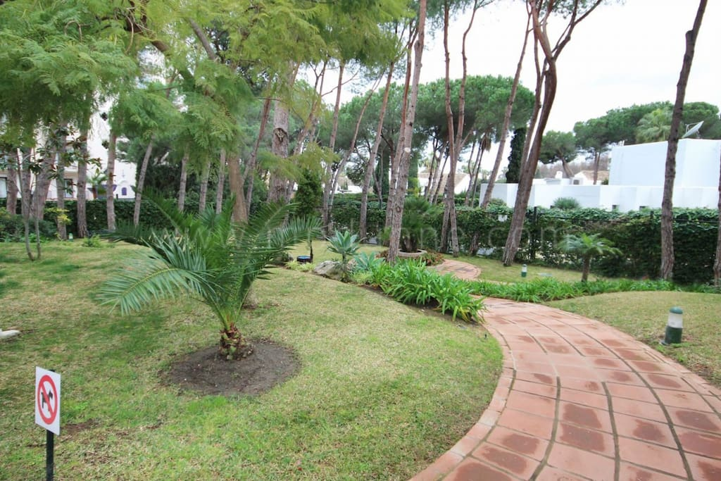 Beautifully maintained gardens