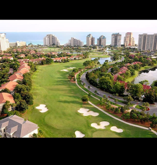 Sandestin award winning golf courses. Play on 4 different courses and 72 holes spanning from the beach to the bay!