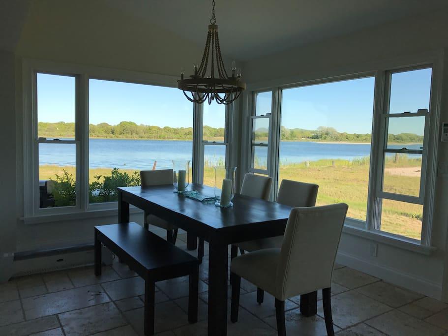 Dining Area overlooks Shinnecock Reservation