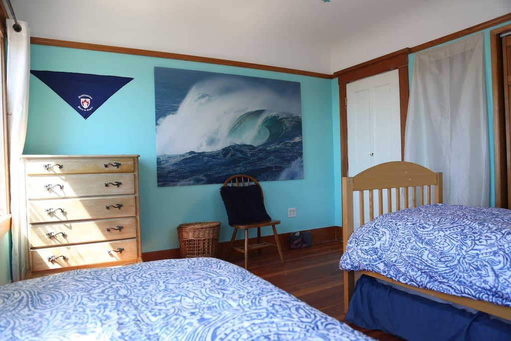 The Ocean view room has plenty of space for your belongings