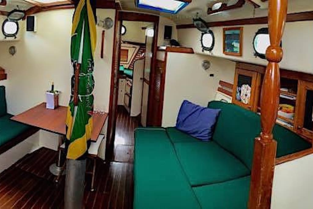 panorama of the saloon and galley