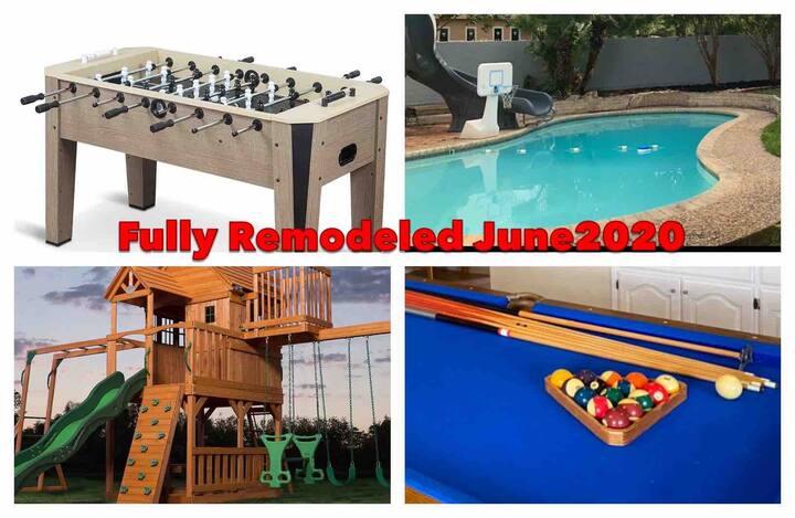 *SWIMMING POOL w/Slide & Playground Great Location