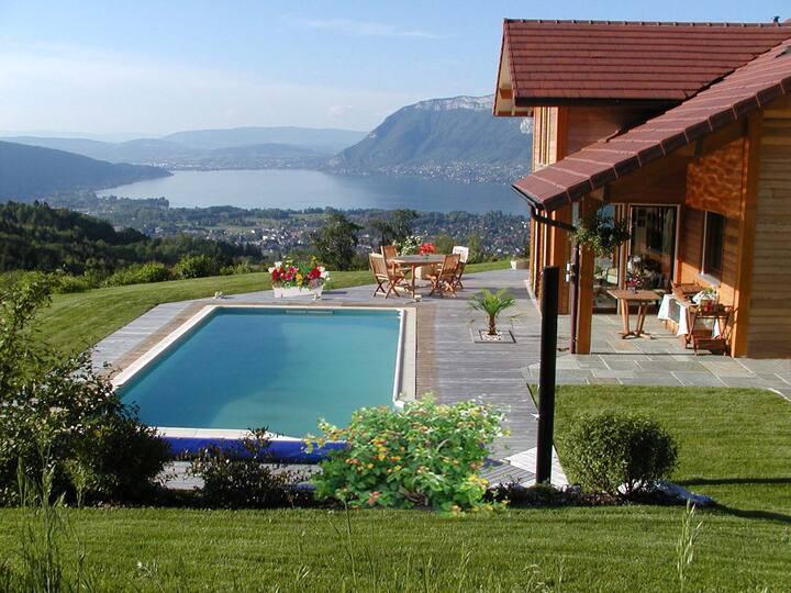 Villa standing vue féérique lac ANNECY et montagne