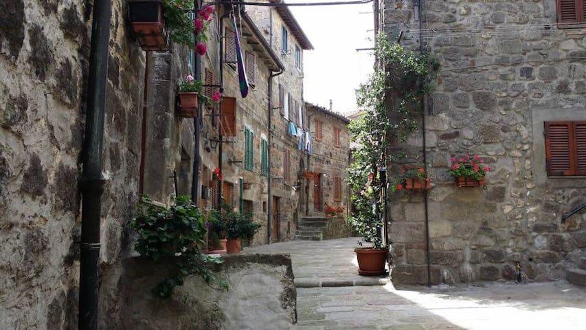 casa su tre livelli in pieno centro storico. - Abbadia San Salvatore - Hus