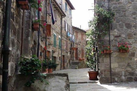 casa su tre livelli in pieno centro storico. - Abbadia San Salvatore