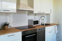 Newly renovated kitchen with all basic amenities.