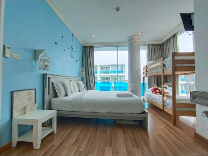 Walk 1min beach★My Resort Hua Hin★2 bedrooms會說中文