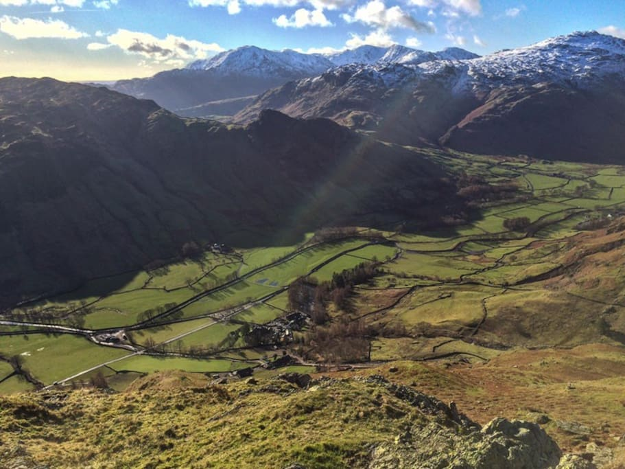 The beautiful Langdale Valley