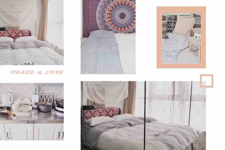 大蕾哥出品•布拉格广场•loft复式•100寸高清投影•吊床•摩洛哥风格•邻万达宝龙