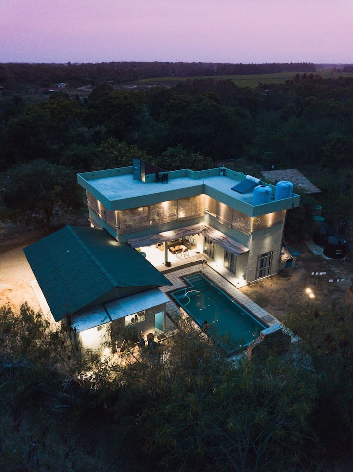 Private Villa bordering Yala Nation Park