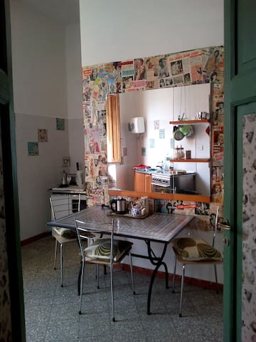 Kitchen for coffee, tea and biscuits