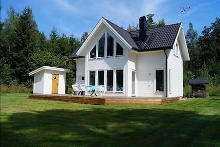 Fritidshus vid sjön Skagern