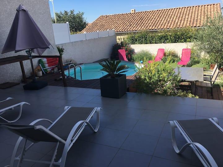 belle villa de 80 m² avec piscine et 3 chambres