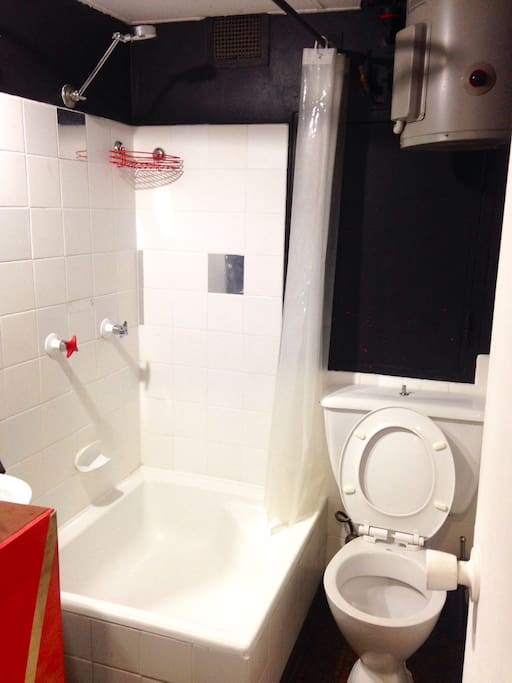 Bright and clean toilet .