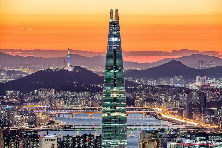 N seoul Tower, lotte tower(15min)