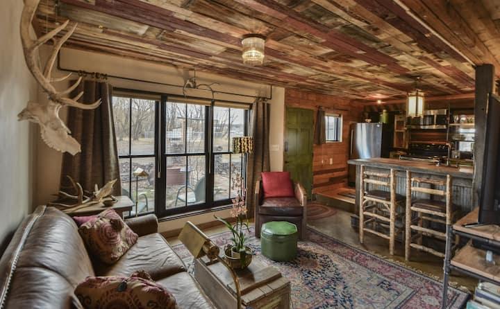 Hot Tub Under Cottonwood Canopy (Whole House)