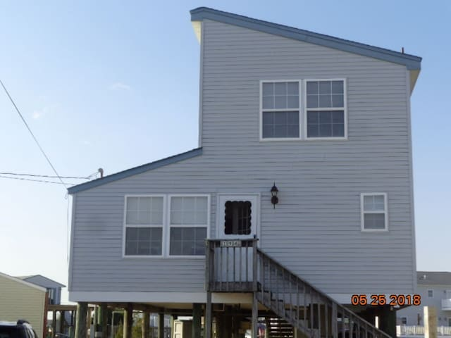 Waterfront Tuckerton beach home looking out to LBI