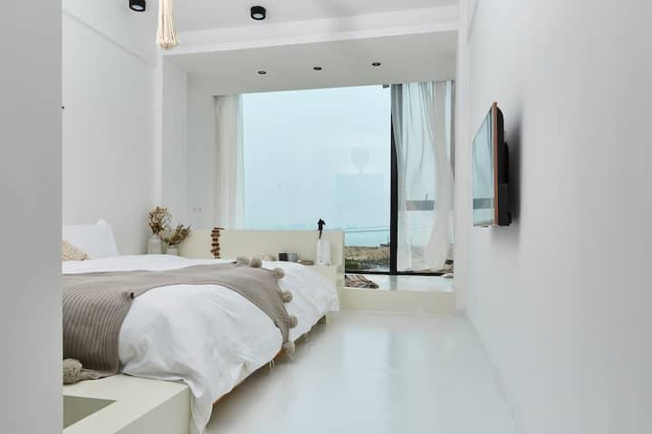 一线海景·落地窗·近机场·浴缸