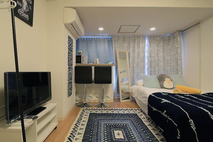 Cozy Flat! 1BR Near Park Hayatt Tokyo Hotel B47