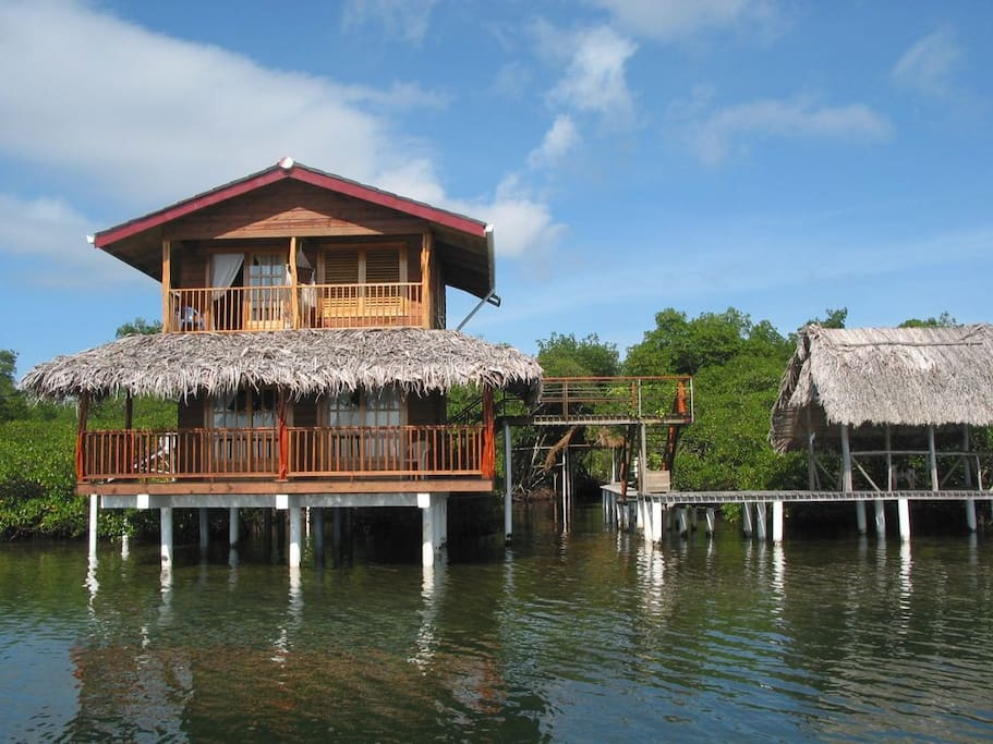 Your two story casita, boat entrance and boat house.