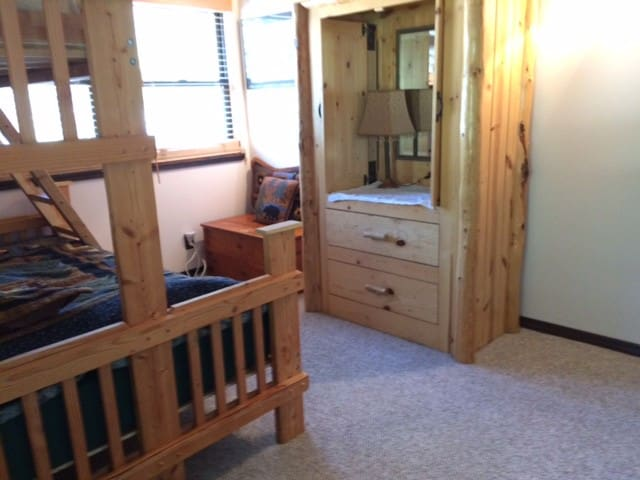 This is a sunny location with three windows in the room!