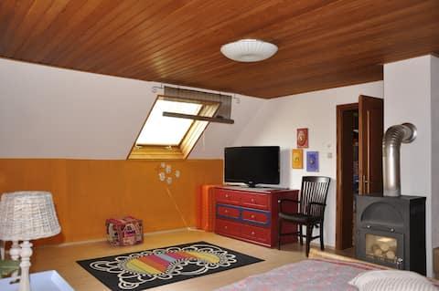 Geräumiges Wohlfühlzimmer in Haus mit Garten