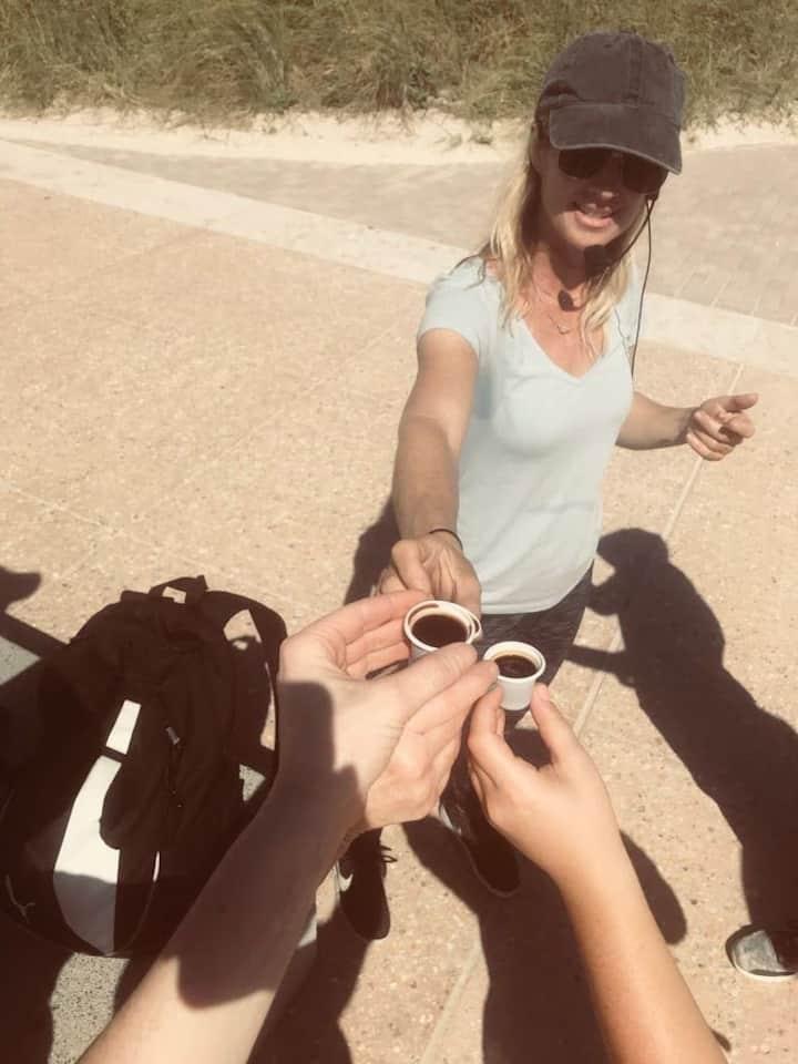 Enjoy a taste of local cuban coffee.