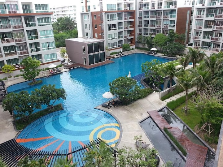 Pool view apartments in seacraze 3 floor
