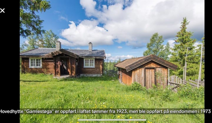 Idyllisk hyttetun i Valdres med vedfyrt badstue
