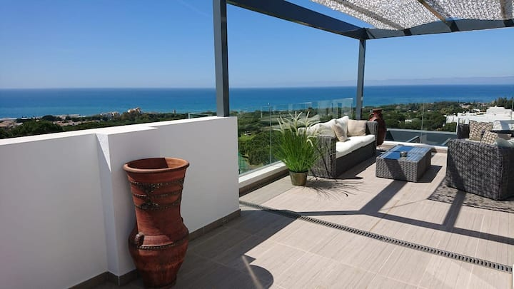 Cabopino Modern Villa in Marbella is with exceptional sea and golf views!!!