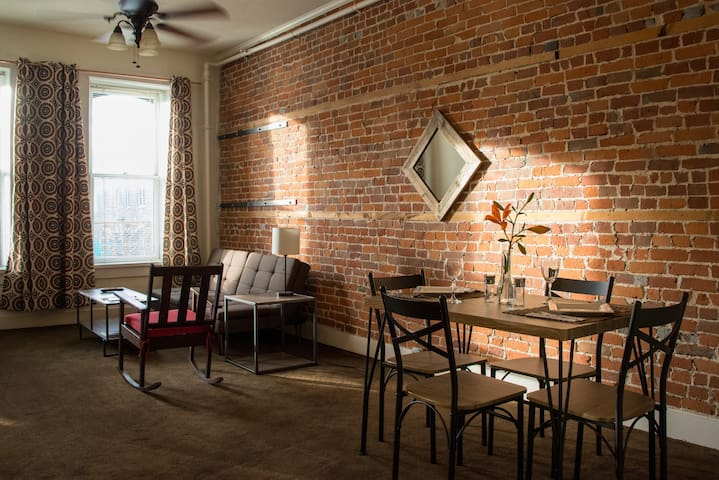 The Brick Apartment above Main Street Galena