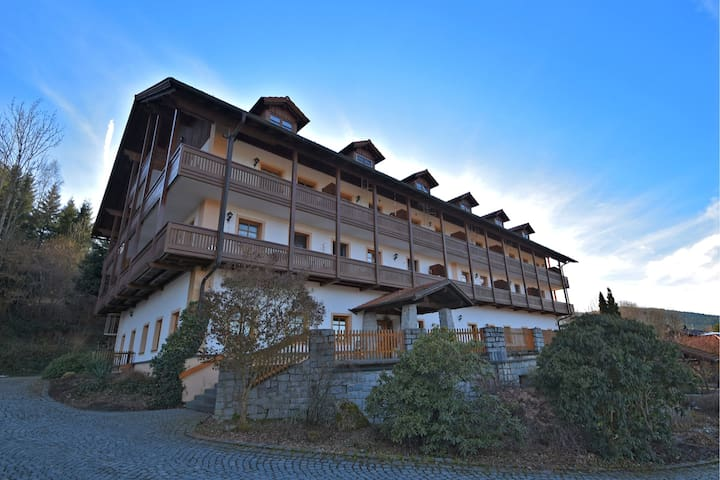 Beautiful apartment in the Bavarian Forest with balcony and view of the Osser