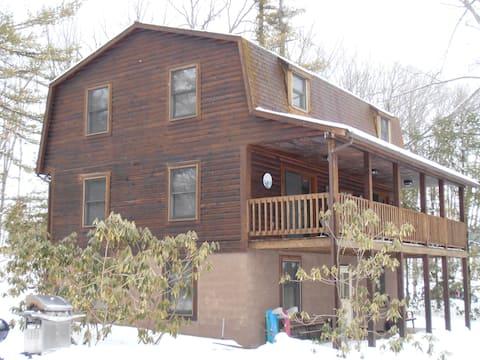 6 bedroom log house on the lake