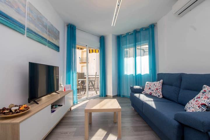 Apartamento en la Carihuela 2ª línea playa + WIFI + A/C + Terraza