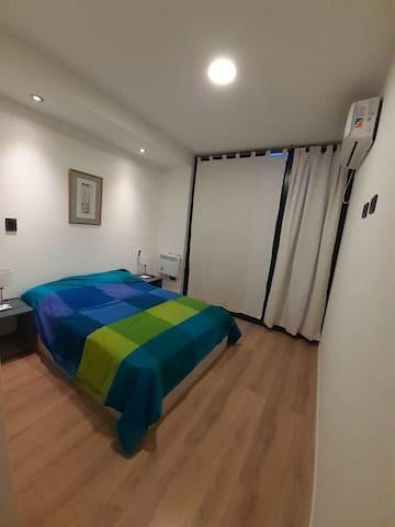 dormitorio, aire acondicinado, calefactor.