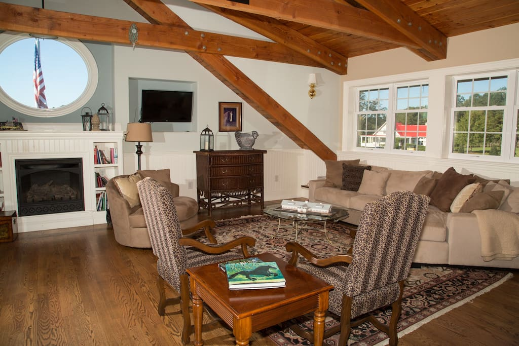 Great room with beautiful views of the surrounding property!