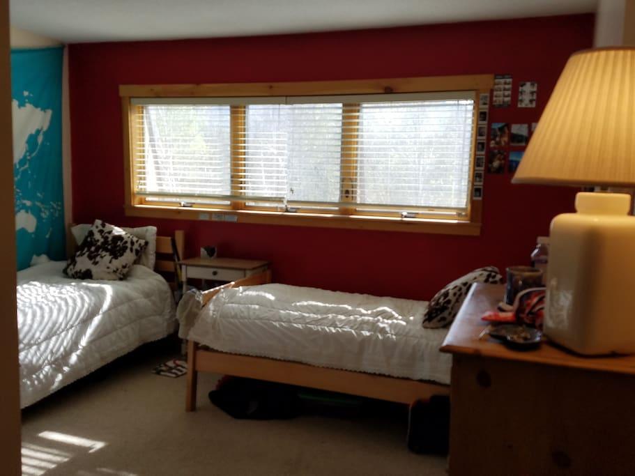 2nd bedroom, 2 twin beds