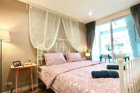 Bangkok City Home King size bed BTS, WiFi *Pick up