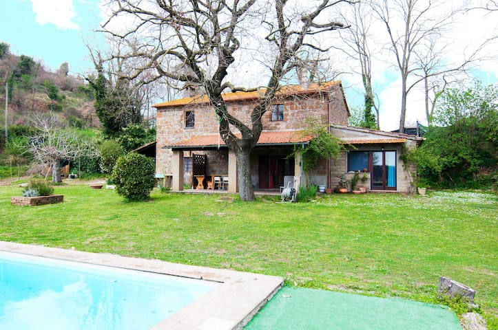 Lovely Country House with pool in Tuscia - Viterbo - Huis