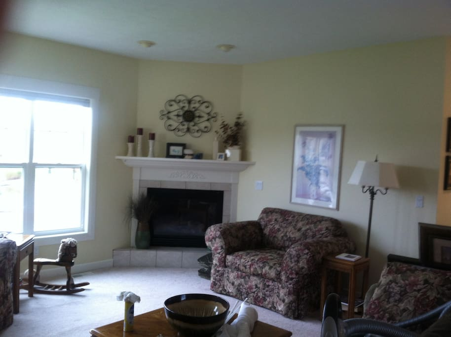 Shared owner living room located on main level.