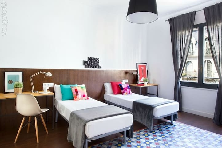 Comfortable bedrooms.   Every guest receives one large bath towel and one hand towel. Every bedroom has its own hairdryer. Every bedroom has AC as well as a safebox.