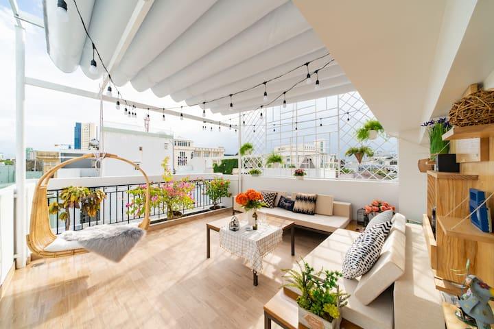 TeeMi House*Kid pool*Bar rooftop*5min Han river