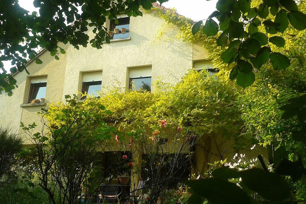 facade jardin fin d'été,