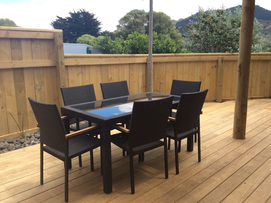 Deck area fully enclosed with security gates