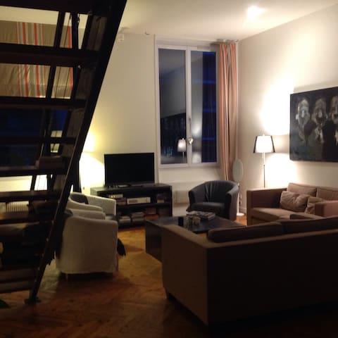 Chambre ds un loft pdt la biennale - Saint-Étienne - Apartamento