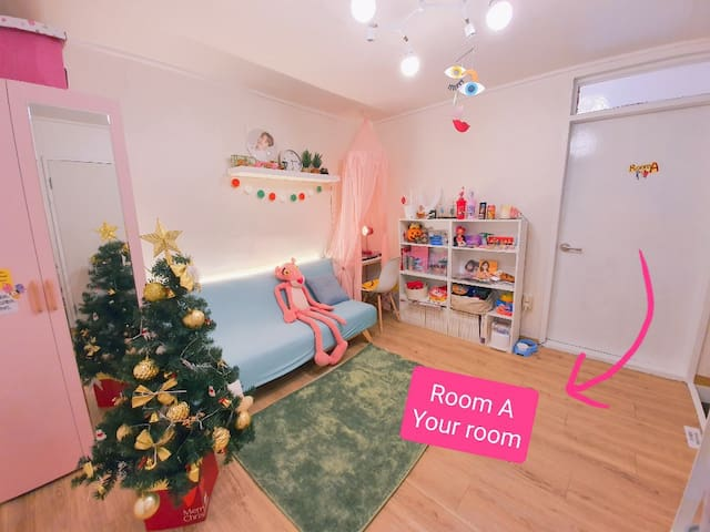 [Pink house](A)Comfy room for sweet stay