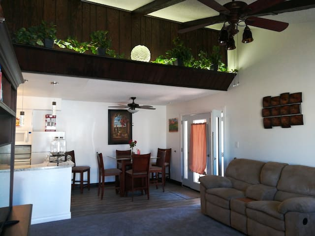 The layout of our home has an open floor plan for comfort.