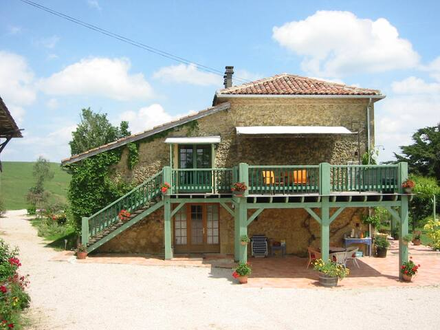 The hayloft of the traditional farmhouse has been lovingly renovated to make a luxurious gite apartment.