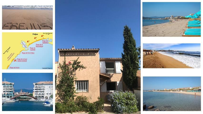 Fréjus : maison provençale 20 mn à pied des plages